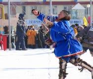 Nadym, Ρωσία - στις 17 Μαρτίου 2006: η εθνική εορτή - η DA Στοκ Φωτογραφίες