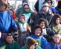 Nadym, Россия - 17-ое марта 2006: национальный праздник, день o Стоковое Изображение