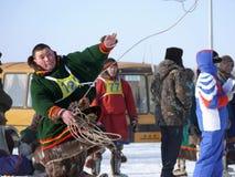 Nadym, Россия - 15-ое марта 2008: национальный праздник - день o Стоковые Изображения