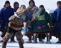 Nadym, Россия - 15-ое марта 2008: национальный праздник - день o Стоковое Изображение