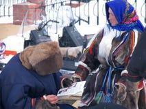 Nadym, Россия - 17-ое марта 2006: национальный праздник, день o Стоковые Изображения