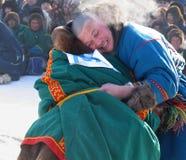 NADYM, РОССИЯ - 17-ое марта 2006: Национальный праздник - день re Стоковые Фото