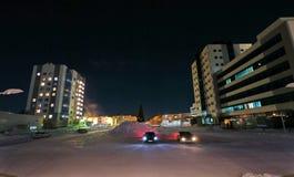 NADYM, РОССИЯ - 25-ОЕ ФЕВРАЛЯ 2013: Рождество украсило рождество Стоковые Изображения