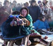 NADYM, RÚSSIA - 15 de março de 2008: Feriado nacional - dia do re Fotografia de Stock Royalty Free