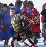 Nadym, Rússia - 15 de março de 2008: o feriado nacional - o dia o Foto de Stock Royalty Free