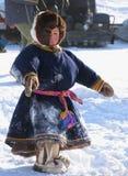 Nadym, Rusland - Maart 2, 2007: de nationale feestdag, de dag van Royalty-vrije Stock Foto