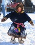 Nadym, Rusland - Maart 2, 2007: de nationale feestdag, de dag van Royalty-vrije Stock Fotografie