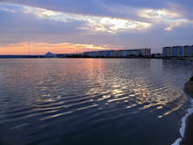 Nadym, Russia - August 19, 2007: the City of the river on the ri Stock Images