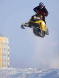 NADYM, RUSSIA - 23 FEBBRAIO: Gara di corsa campestre della neve Fotografie Stock Libere da Diritti