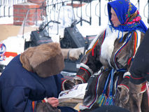 Nadym, Russia -  March 17, 2006: the national holiday, the day o Stock Images