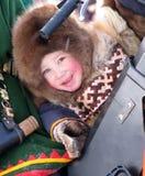 Nadym, Russia - 11 marzo 2005: la festa nazionale, il giorno di Fotografia Stock Libera da Diritti