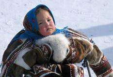 Nadym, Russie - 18 mars 2006 : les vacances nationales, le jour de Photos libres de droits