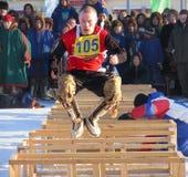 Nadym, Russie - 2 mars 2007 : les vacances nationales - le jour de Photos libres de droits