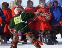 Nadym, Russie - 15 mars 2008 : les vacances nationales - le jour o Photo libre de droits