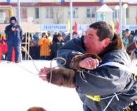 Nadym, Russland - am 17. März 2006: der Nationalfeiertag - das DA Lizenzfreie Stockfotos