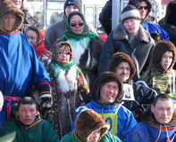 Nadym, Russland - 17. März 2006: der Nationalfeiertag, der Tag O Stockbild