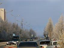 Nadym, Russland - 15. Oktober 2006: die Mitte der Stadt Lizenzfreie Stockfotos