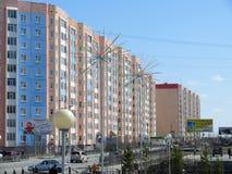 Nadym Ryssland - Maj 17, 2008: stadshorisonten Royaltyfria Bilder