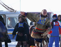 Nadym Ryssland - mars 15, 2008: den nationella ferien - dagnollan Royaltyfria Foton