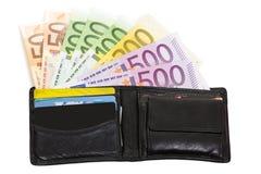 nadziany portfel Zdjęcia Stock