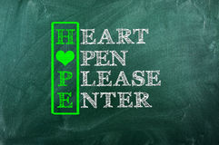 Nadziei serce obraz royalty free