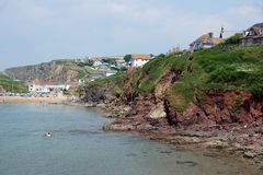Nadziei zatoczka, Devon, fotografia royalty free