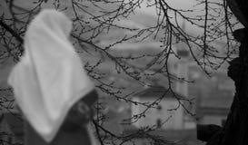 Nadzieja dla muzułmańskiej dziewczyny fotografia stock