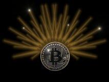 Nadziemski Bitcoin royalty ilustracja