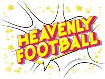 Nadziemski futbol - komiksu stylu słowa royalty ilustracja