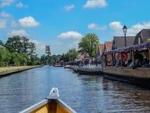 Nadziemski Giethorrn w holandiach Zdjęcia Royalty Free