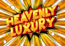 Nadziemski luksus - komiksu stylu słowa royalty ilustracja