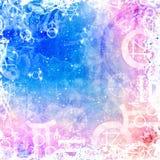 Nadziemski piękny tło z magicznymi symbolami ilustracji