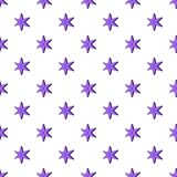 Nadziemski sześć wskazywał gwiazdowego wzór, kreskówka styl ilustracji