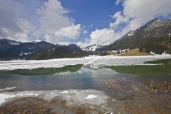 nadziemski widok górski Zdjęcia Royalty Free