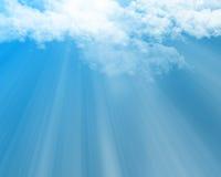 Nadziemskie chmury ilustracja wektor
