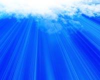 Nadziemskie chmury royalty ilustracja