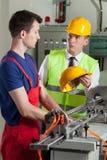 Nadzorca w fabryce Fotografia Stock