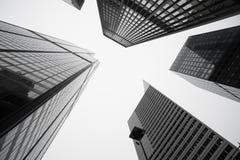 Nadzwyczajna architektura i pejzaże miejscy pięć Chicagowskich budynków Zdjęcia Royalty Free