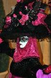 Nadzwyczajny karnawałowy kostium przy Weneckim hotelem Zdjęcia Royalty Free