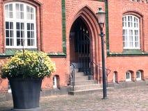 Naer-Bibliothek im Herning, Dänemark stockbild