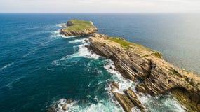 Naer Peniche de Baleal de la isla en la orilla del océano en la costa oeste de Portugal Imagenes de archivo