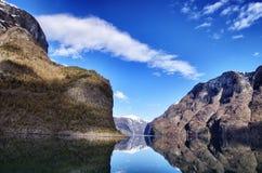 Naerofjord Fotografía de archivo libre de regalías