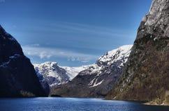 Naerofjord Imágenes de archivo libres de regalías