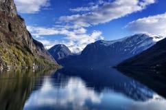 Naerofjord Imagenes de archivo