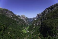 Naeroy-Tal-Panorama Lizenzfreie Stockfotografie