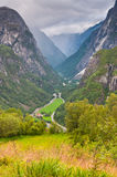 Naeroydalen valley, from Staleheim, Norway Royalty Free Stock Images