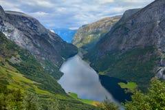 Naeroyfjord, Norvegia immagine stock libera da diritti