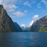 Naeroyfjord in Norvegia, luogo del patrimonio mondiale dell'Unesco Fotografie Stock Libere da Diritti