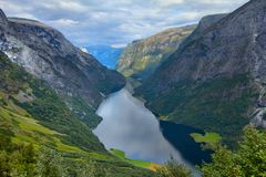 Naeroyfjord, Norway Royalty Free Stock Image