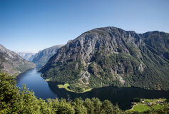 Naeroyfjord in norway Royalty Free Stock Photography